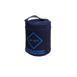 Contenitore terziario cilindrico per il trasporto di 12 provette – COD. 472022