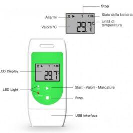 Data Logger Registratore di Temperatura con allarmi visivi – COD. TU0421